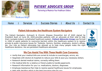 Visit patientadvocategroup.com